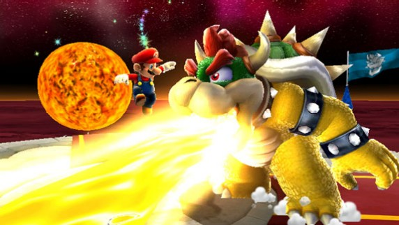 Bowser crachant du feu