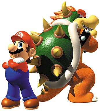 Rivalité entre Mario et Bowser - Super Mario 64