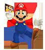 Mario dans super mario 3d land